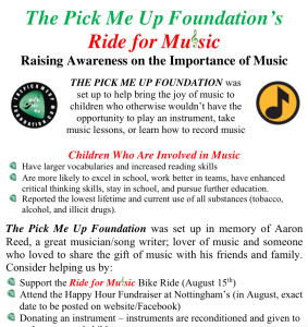 Ride For Music Flyer